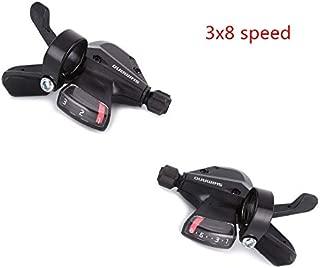 Enchante Jerry Bicycle Derailleur - Altus SL-M310 3x8 3x7 21 24 Speed Shifter Trigger Set Rapidfire Plus w/Shifter Cable 1 PCs