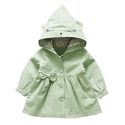 Obestseller Baby Mädchen Kapuzenmantel WindschutWarm Coat Herbst Mäntel Kind Winterjacke Bow Kapuzejacke Kleinkinder Steppjacke Outerwear 1-6 Jahre