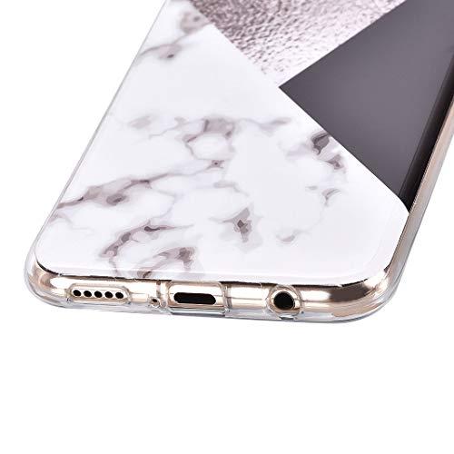 Huawei Mate 20 Lite Marmor Hülle, Huawei Mate 20 Lite Handyhülle, ToMoYi TPU Silikon Marble Bumper Handytasche Flexible Schutzhülle Back Cover Handy Hülle Protective Dünn für Huawei Mate 20 Lite - 6