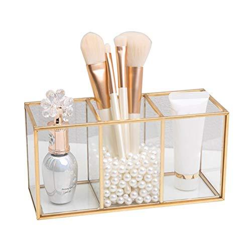 Organizador de maquillaje, Organizador de pinceles de maquillaje Organizador de cosméticos transparente Soporte de pinceles de maquillaje para esmalte de uñas Barras de labios Pinceles cosméticos