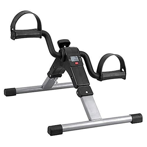 NAOKEY Mini Bicicleta de Ejercicio Plegable con La LCD Portable Pedal Ejercitora Gimnasio Fitness, Brazo Y Entrenador de Piernas, Entrenador de Pedales para Jóvenes Y Viejas