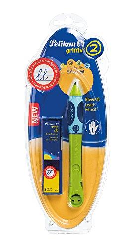 Pelikan 945028 griffix Bleistift für Linkshänder in Faltschachtel, grün