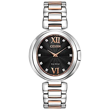 Ladies' Citizen Eco-Drive Capella Diamond Two-Tone Watch EX1516-52E