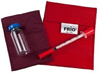 FRIO ® Mini: The ORIGINAL Insulin Cooling Travel Wallet for Diabetics (Mini, Red)