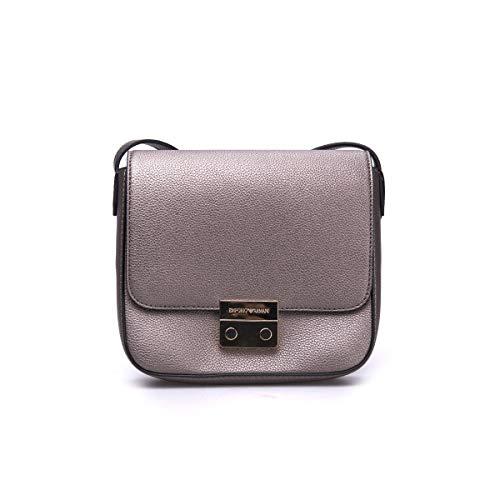 Emporio Armani Borsa Silver texture cross-body bag Silver Leather