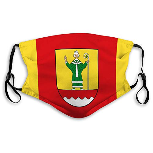 shjsertjs Face Dust Shield Unisex Mouth Shield flag of cuxhaven in lower saxony germany Face Dust Shield Unisex Mouth Shield
