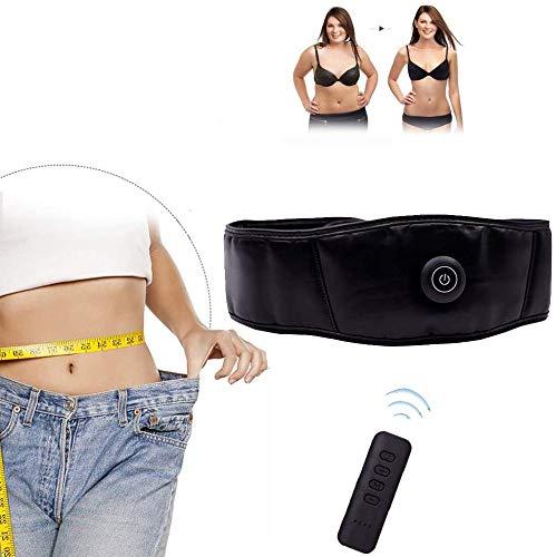 Pkfinrd Elektrische grasmaaier, riemgrootte, massage, slankheidsriem, 6 gewichtsmodi, voor gezondheidsverzorging, fitnessapparaat voor vrouwen en mannen
