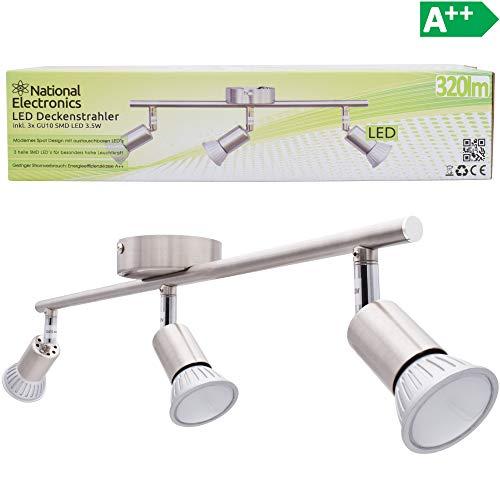 National Electronics GU10 3,5W 320lm LED plafonnier, 3 flammes, 230V, plafonnier