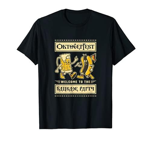 オクトーバーフェスト ソーセージパーティーへようこそ Tシャツ