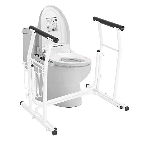 WuLien Toilet Safety Standing Aid, Handle Support Frame Bathroom Handrail with Adjustable Height for Elderly Disabled, Best Gift for Parents The Elderly in Rehabilitation