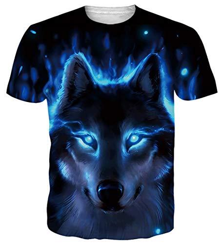 Fanient Herren Mens Casual T-Shirts 3D-Druck Bier Grafik Basic Kurzarm T-Shirt Tops Polyester atmungsaktiv T-Shirt für den Sommer Festival
