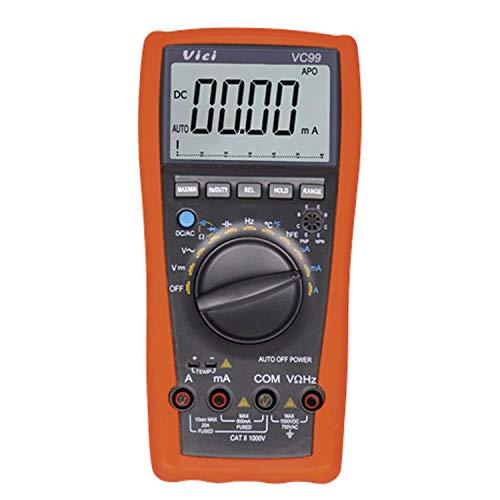 W-SHTAO L-WSWS Multímetro VC99 Electricista Instrumento Vichy multímetro Digital DC probador de Voltaje analógico Digital multímetro de Gaza