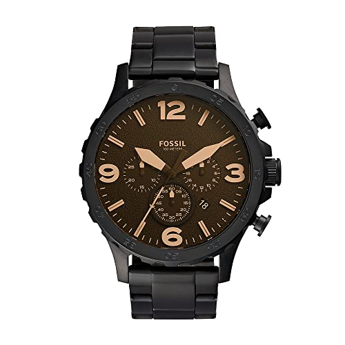 Fossil Men's JR1356 Nate Black Stainless Steel Watch