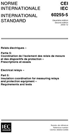 IEC 60255-6 Electrical relays - Measuring relays and protection equipment