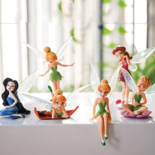 6pcs/Set Kids Gift Tinkerbell Dolls Flying Fairy Children Animation Cartoon Toys GirlsBaby Toy