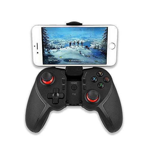 Draadloze Bluetooth Gamepad-gamecontroller Joystick voor tv-box Android-laptop Bluetooth-vibratiecontroller Gameaccessoires, brengen u een andere game-ervaring,Black