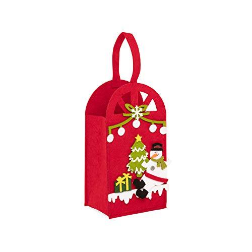 dmail Bolsa portabotellas con 2 compartimentos - Rojo