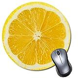 Lemon Slice Mousepad, Round Tropical Fruit Mouse pad, Cute Funny Gift, Food Mouse Mat