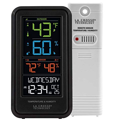 La Crosse Compact Personal Weather Station with Remote Sensor - 3.75 W x 7 H x 1.25 D