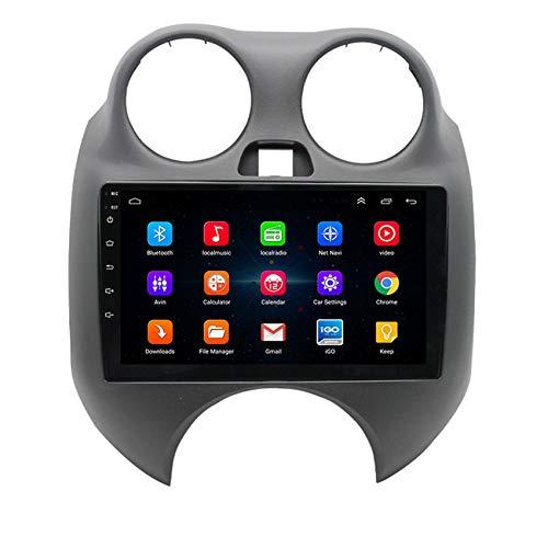 Amimilili Autoradio Radio De CocheAndroid 9.0 GPS Radio 2 DIN estéreo Multimedia para Nissan March 2010-2015 con GPS/Bluetooth/USB/FM/Mandos del Volante,8 Cores 4g+WiFi:2+32g