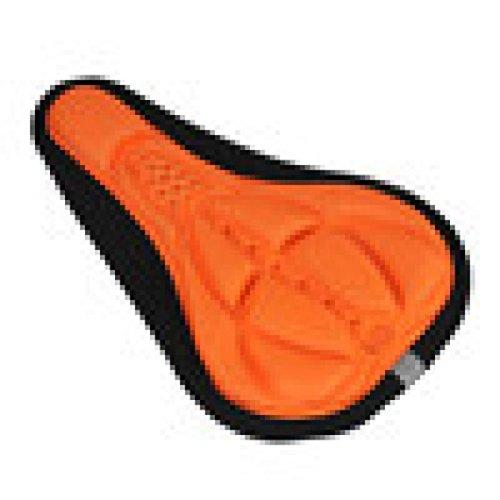 Goosun Ergonomischer Fahrradsattel Fahrradsitz Fahrrad 3D Silikon Gel Sitz Sattel Abdeckung Weich Kissen Stoßfestem Radfahren Sattelkissen Pad Rennrad Touren Mountainbike 28Cm X 17Cm (Orange)