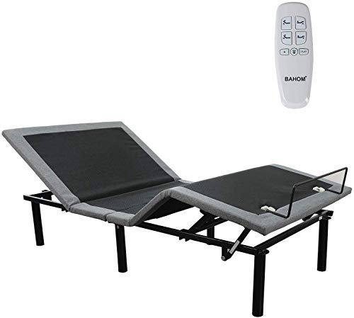 BAHOM Adjustable Bed Base Twin XL with Wireless Remote, Electric Bed Frame Ergonomics with Quick Installation, Noiseless (Twin XL)