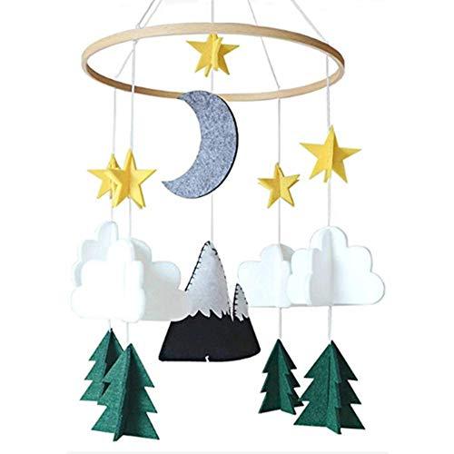 Morningtime Babybed, hangende wind bell-hanger, decoratie vliegtuig en wolk, wandversiering voor huis, slaapkamer, decoratie Nursery Decor