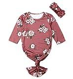 Baby Sleeping Bag Floral Mermaid Tail Infant Nightgowns Gowns Blanket Sleepers Sleepwear Romper (deep red, 0-6Months)