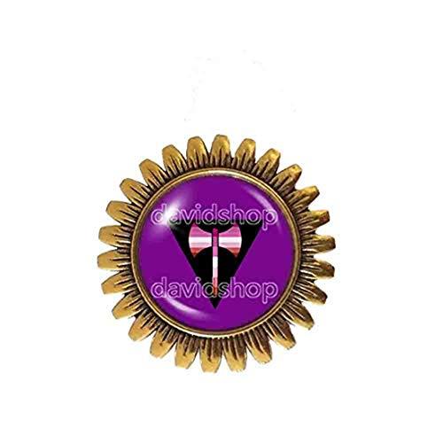 Fashion Jewelry Labrys Lesbian Pride Brooch Badge Pin LGBT Flag Cosplay