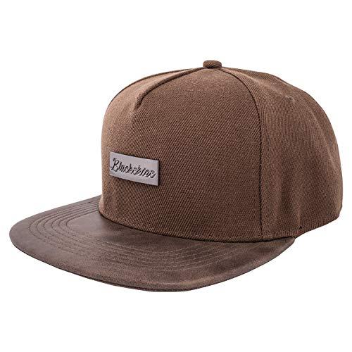 Blackskies Vanguard Snapback Cap Braun Damen Herren Baseball Mütze Kappe Suede Kunst-Leder