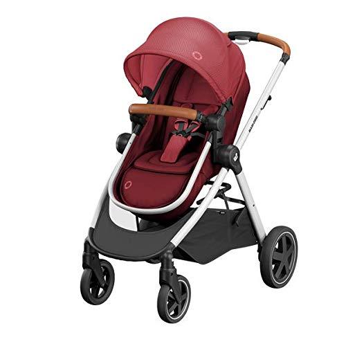 Maxi-Cosi Zelia kinderwagen, lichte Urban Buggy vanaf de geboorte, reissysteem met huiswagen, 15 kg, Essential Red