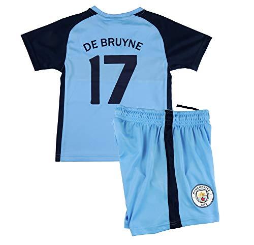 B & F kindershirt en broek Bruyne originele uitvoering Manchester Cityna, officieel gelicenseerd product
