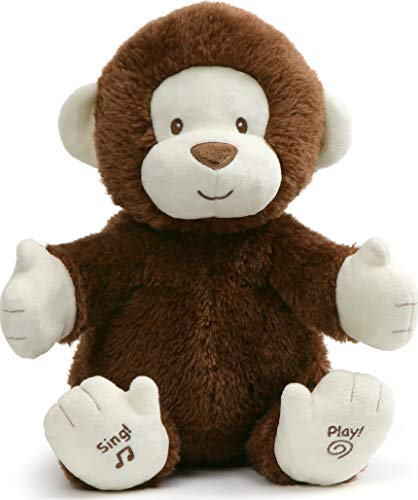 """GUND Animated Clappy Monkey Singing and Clapping Plush Stuffed Animal, Brown, 12"""""""