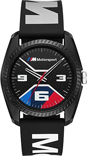 BMW BMW1002 M Motorsport Uhr Herrenuhr Kautschuk Kunststoff 3 bar Analog schwarz