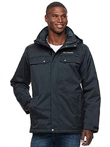 Columbia Men's Thermal Coil Hooded Jacket (L, Black)