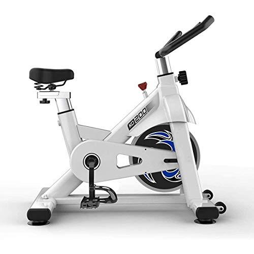 Bicicleta estática para interiores - Bicicleta estática de transmisión por correa con resistencia ajustable Pedal para el hogar Bicicleta estática para interiores Equipo de gimnasio para pérdida de pe