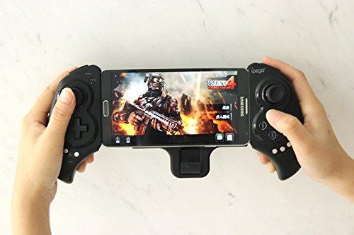 Morza IPEGA PG-9023 telescópica inalámbrica Bluetooth Gamepad de la manija de la Palanca de Mando del Juego PC androide de App