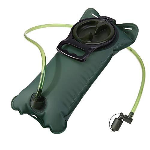 Hipier Poche a Eau Sac a Dos Portable Réservoir d'eau de Sport sans Bpa Vessie d'hydratation pour la Randonnée Le Vélo et l'escalade (2L)