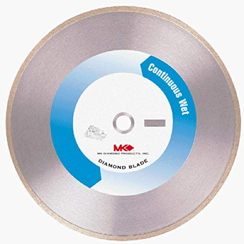 MK Diamond 137166 MK-200 Premium 10-Inch Wet Cutting Continuous Rim Saw Blade with 5/8-Inch Arbor for Tile