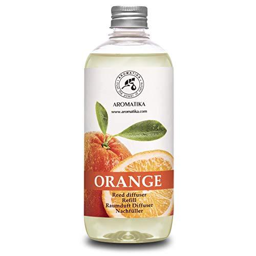 Raumduft Nachfüllflasche 500ml mit Natürlich Ätherischen Orangenöl - Beste für Aromatherapie - SPA - Haus - Bad - Büro - Fitness Club - Restaurant - Boutique - Raumduft Refill Orangenöl