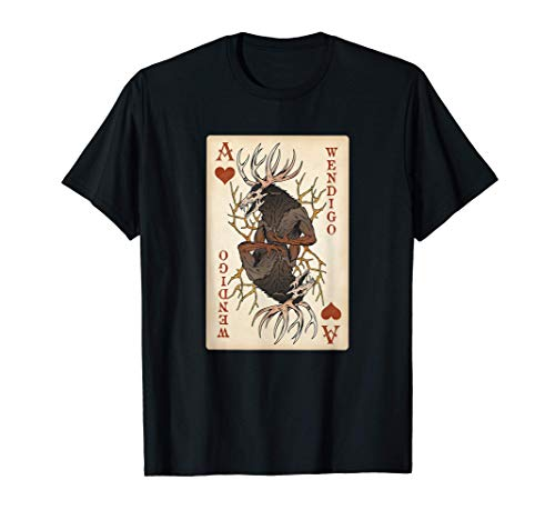 Wendigo - Original Cryptid Playing Card Tarot Ace of Hearts Camiseta
