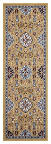 Get The Amer Rugs Sna70206 Sanya 7 Gold Power Loomed Runner Rug 2 X6 From Amazon Now Accuweather Shop