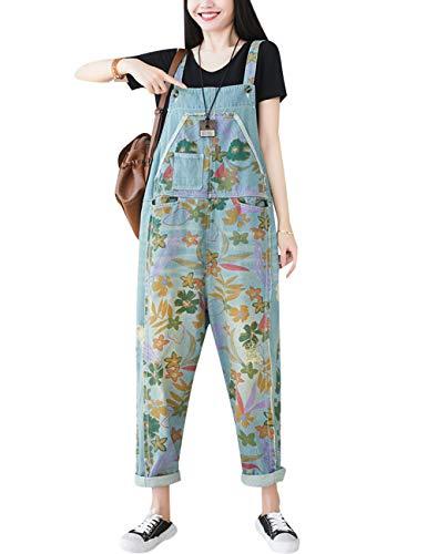 Bigassets Dames Denim tuinbroek Overalls Jumpsuits met zakken
