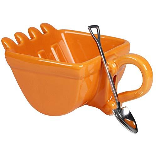 Kaffeetasse Baggertasse Bagger Schaufel Form Tasse Kunststoff Teetasse Outdoor Camping Eimer Tasse Digger Tasse Geschenk Plastikbecher Geschenk für Kinder und Bagger Fans