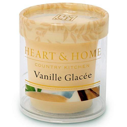 Petite-vela de cera de soja vainilla de helado