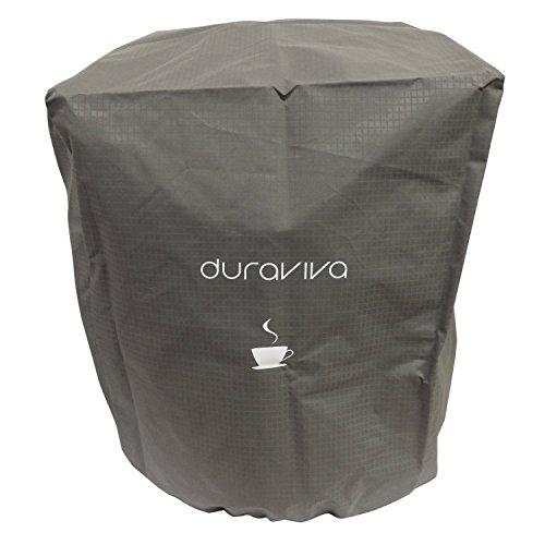 Duraviva Coffee Maker Cover - Nylon, Waterproof, Universal Fit - Fits Keurig K50 K400 K500 series, K-Classic, K-Elite, and Similar Brewing Systems (Gray)