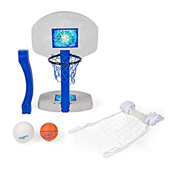 SwimWays 2 In 1 Pool Sport Combo Set - Outdoor Volleyball & Basketball Net For Swimming Pool - os Multicolor