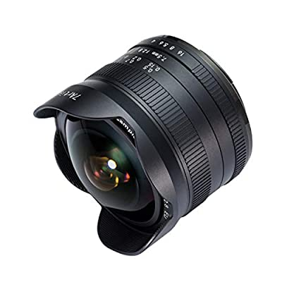 7artisans 7.5mm F2.8 II APS-C Wide Angle Fisheye Fixed Lens Compatible with Sony Compact Mirrorless Cameras (Black) by 7artisans