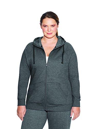 Champion Damen Plus Size Fleece Full Zip Hoodie -  grau -  3X