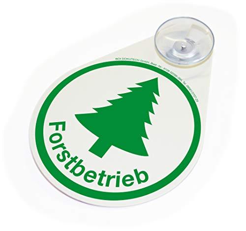 BOI DOKUTECH Hinweisschild Forstbetrieb mit Saugnapf